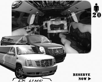 Cadillac Escalade 20 passenger SUV Limousine for rental in New Orleans, LA