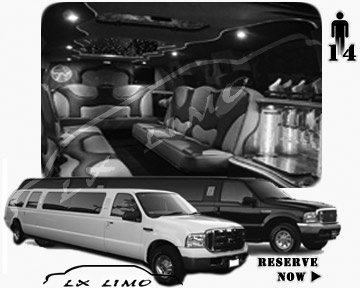Lincoln Excursion SUV Limo for hire in New Orleans, LA